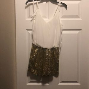 NWT Sequin short romper!